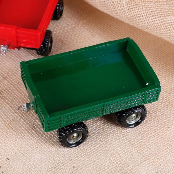 Traktor-Anhänger in grün