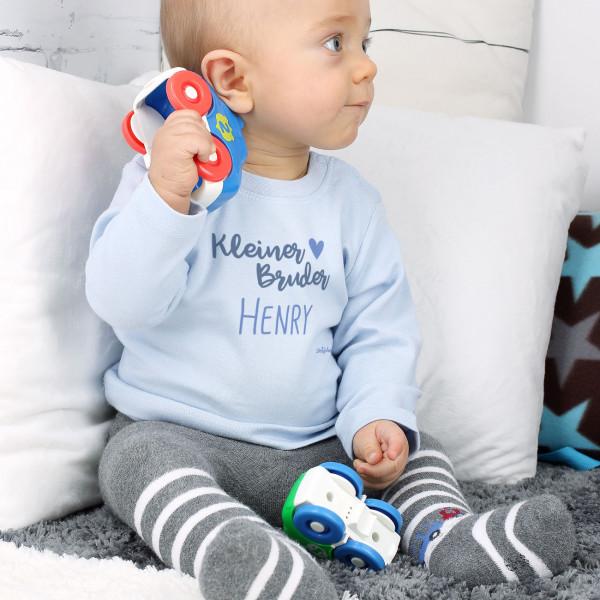 Hellblauer Babypullover Kleiner Bruder