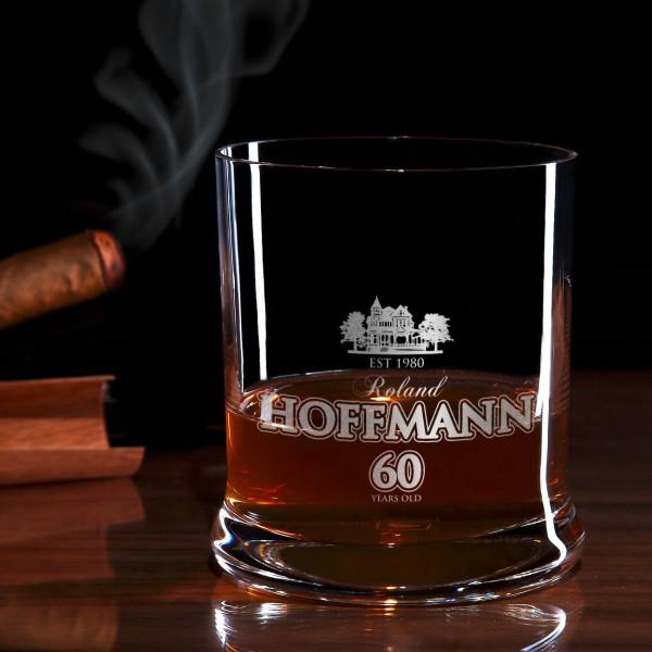 Viktorianische Villa Whiskyglas mit Gravur