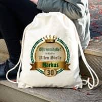 Rucksack für alte Säcke mit Name und Alter