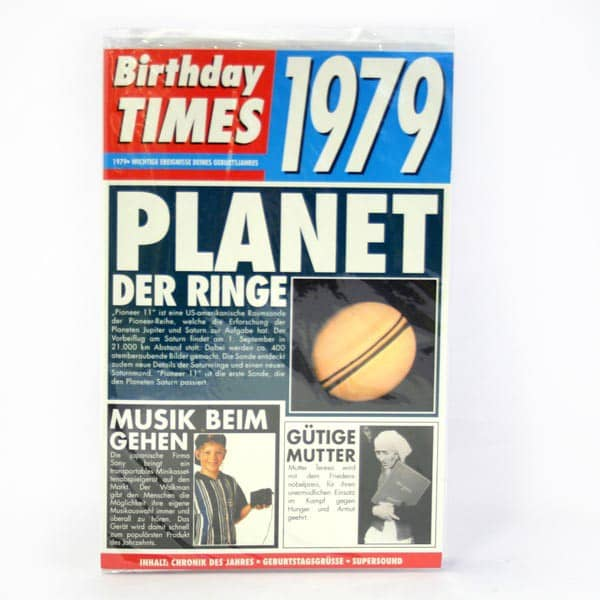 Birthday Times Karte mit Sound 1979