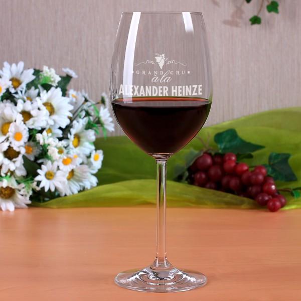 Weinglas Grand Cru mit Gravur