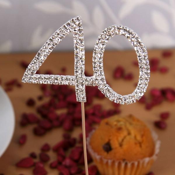 Geburtstagspicker zum 40. in Silber