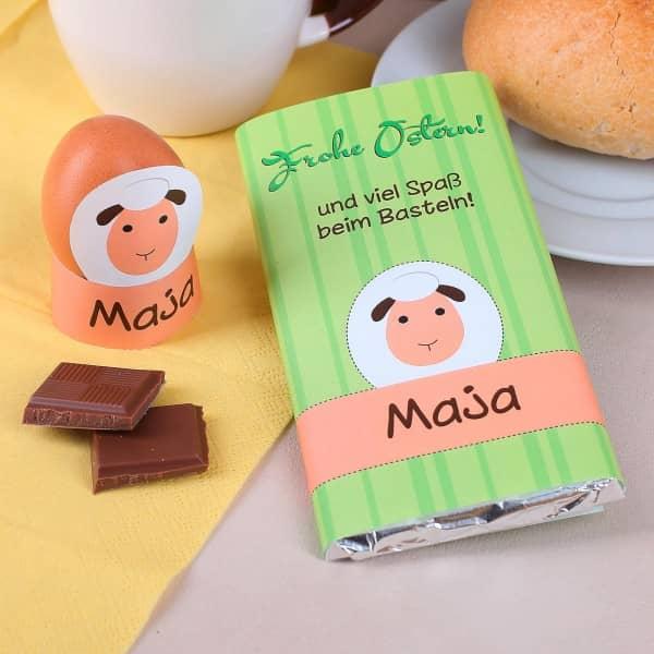 Niedliche Osterschokolade mit Bastelanleitung