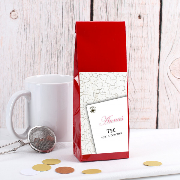 Tee fürs Tässchen mt Wunschname