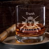 Jäger aus Leidenschaft - graviertes Whiskyglas mit Name