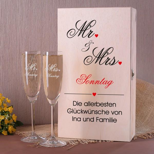 Geschenkset zur Hochzeit im Mr. & Mrs.