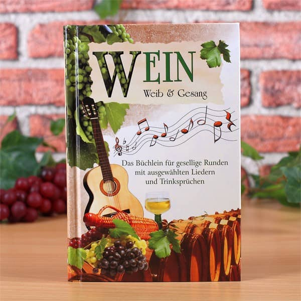 Weinbuch mit Liedern