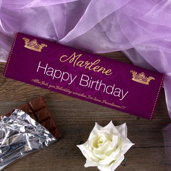 Geburtstagsschokolade 300g mit Wunschnamen und Text