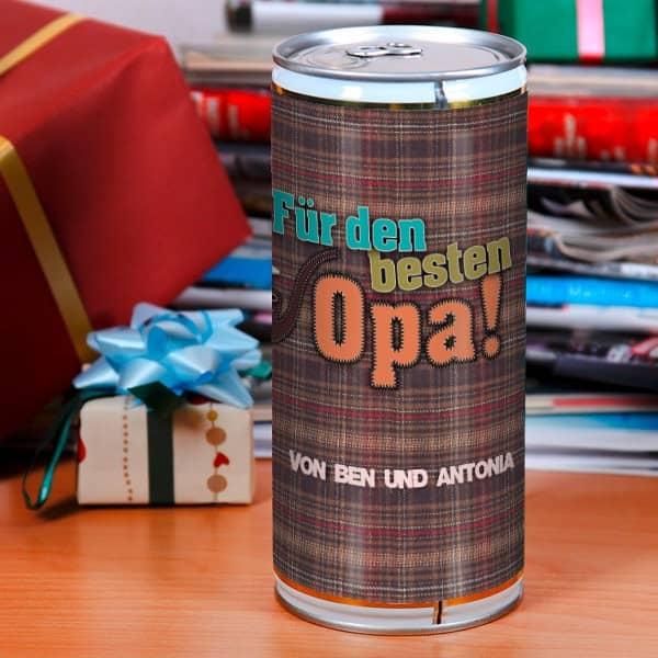 Bierbüchse für den besten Opa
