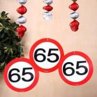 Spiral Dekoration Verkehrsschild 65