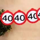 Deko Girlande - Verkehrszeichen 40