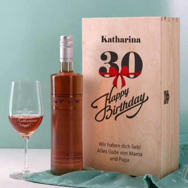 Wein-Geschenkset zum 30. Geburtstag