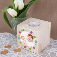Teelichthalter zu Ostern mit Fotoaufdruck