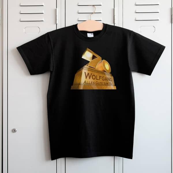 T Shirt zum 70. Geburtstag mit monumentalem Aufdruck