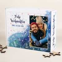 DIY Adventskalender in Watercolor-Optik mit Foto und Wunschtext