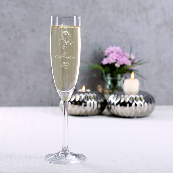 Sektglas Flower Edition mit Gravur