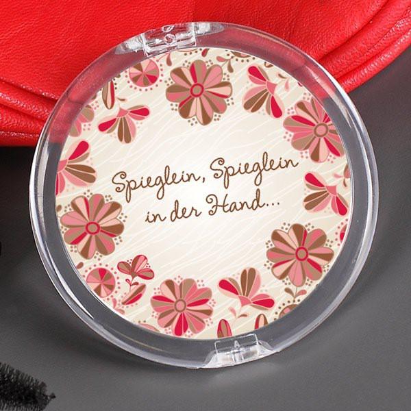 Kosmetikspiegel mit Namensaufdruck