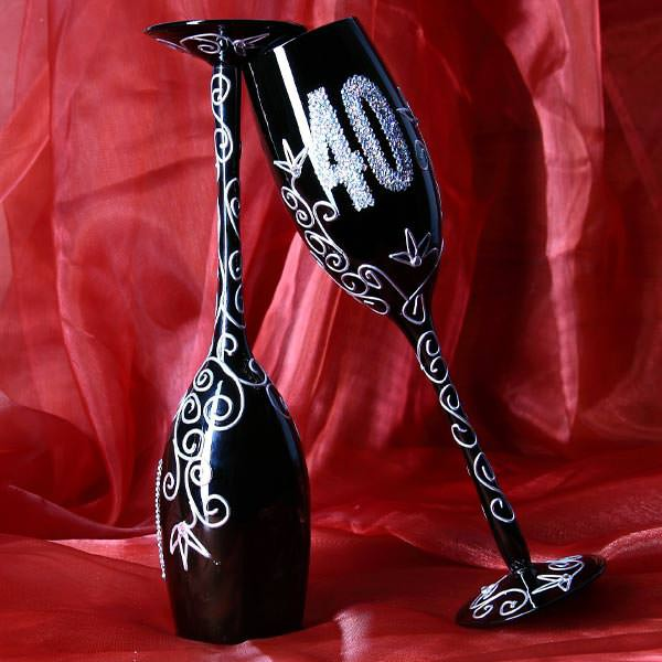 Champagnerglas zum 40. Geburtstag
