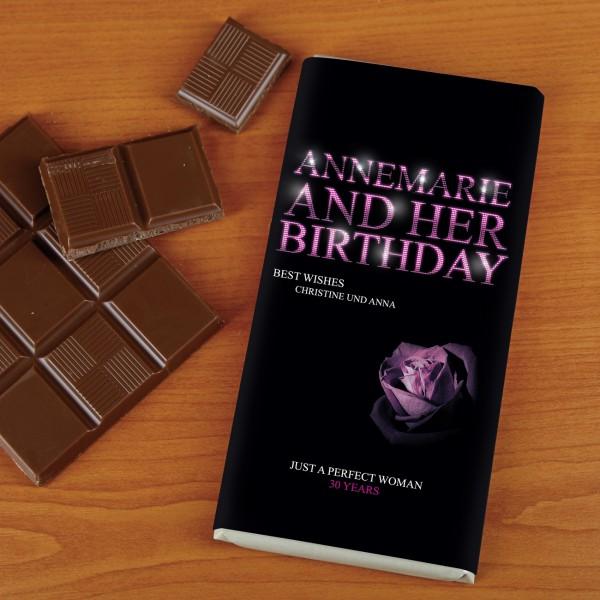 100g Schokolade für Frauen zum Geburtstag