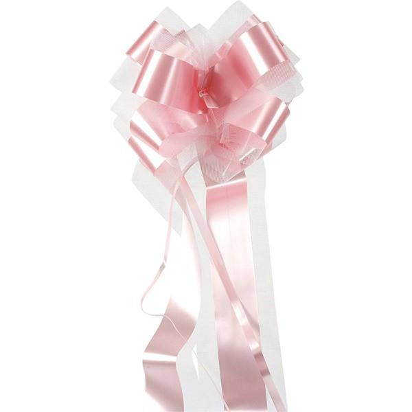 Deko Schleifenband mit Tüll in Rose