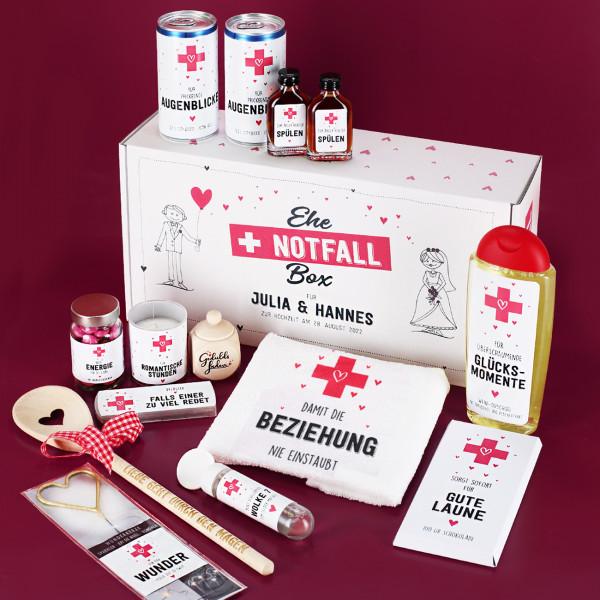 Ehe-Notfall-Box - Erste Hilfe Geschenk zur Hochzeit mit Inhalt