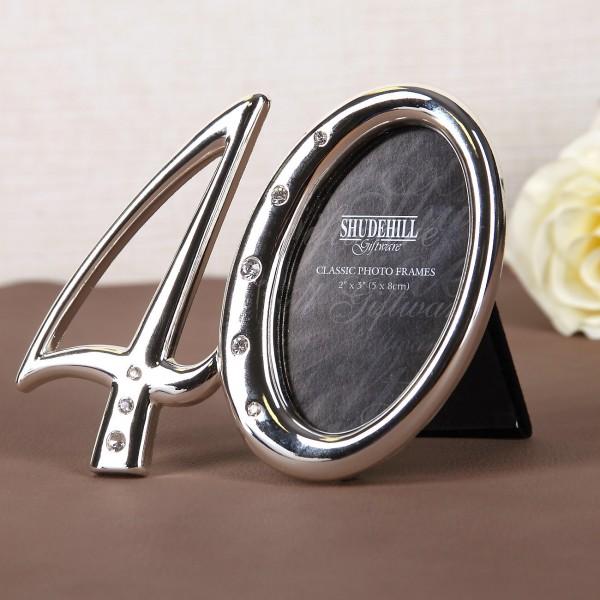 Bilderrahmen - 40 - in Silber mit Strass