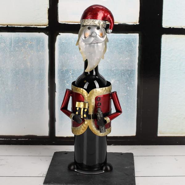 Nützlichküchenaccessoires - Metall Flaschenhalter Weihnachtsmann - Onlineshop Geschenke online.de