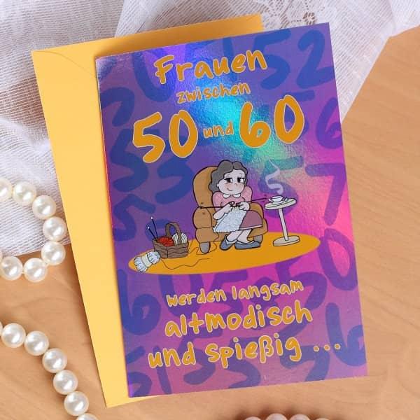 Geburtstagskarte für Frauen zwischen 50 und 60