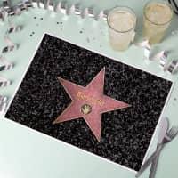 5er Set Papier Platzdeckchen zum Geburtstag - Walk of Fame