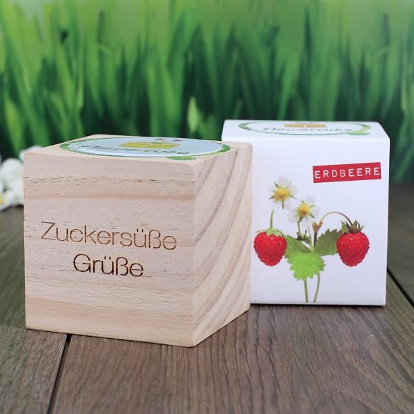 Flowercube mit Erdbeersamen