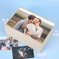 Erinnerungsbox für Fotos mit Ihrem Lieblingsbild bedruckt