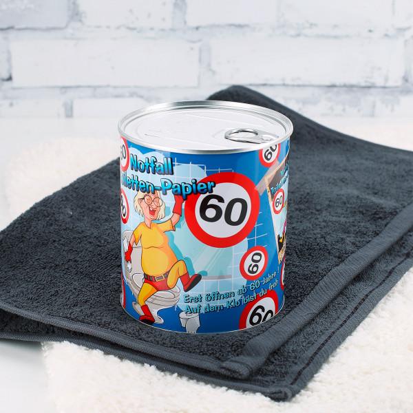 Notfall Toilettenpapier in der Dose zum 60.Geburtstag