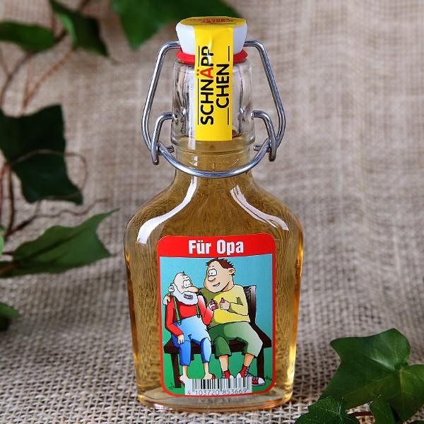 Bügelflasche - Für Opa - Weinbrand