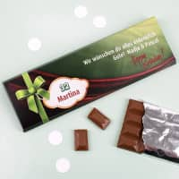 300g Schokolade Happy Birthday mit Alter, Name und Text