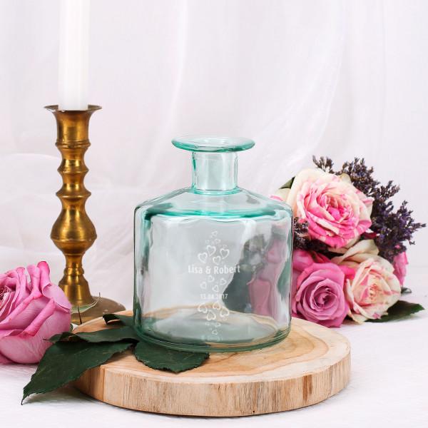 Flaschenvase Leonardo mit Gravur für Paare