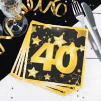 Servietten Star zum 40. Geburtstag