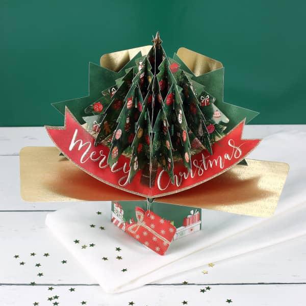 3D Karte Weihnachtsbaum