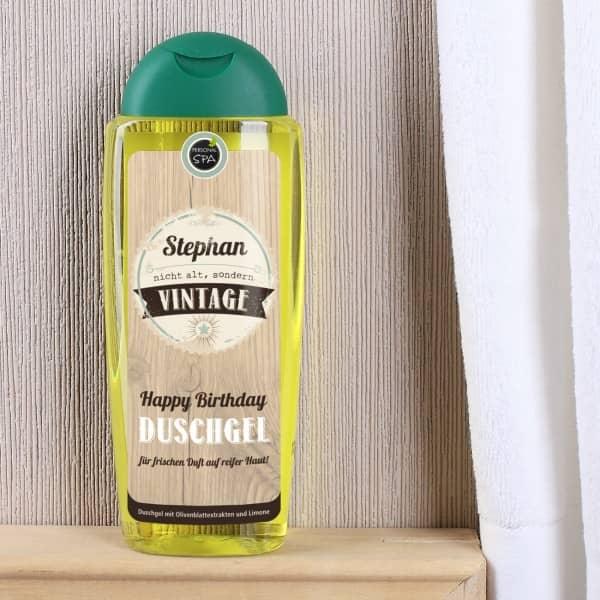 Duschgel nicht alt sondern vintage