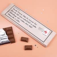 XL-Schokolade -Vielen Dank- in Optik einer Postkarte