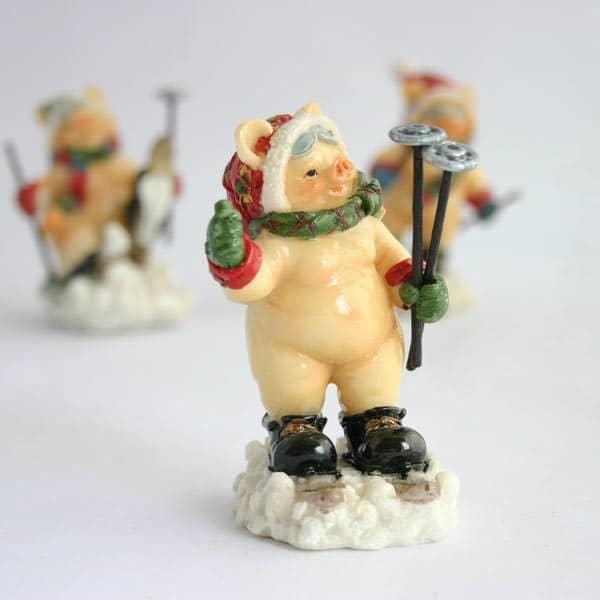 Kleines Weihnachtschwein
