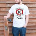T-Shirt mit Verkehrsschild zum Geburtstag