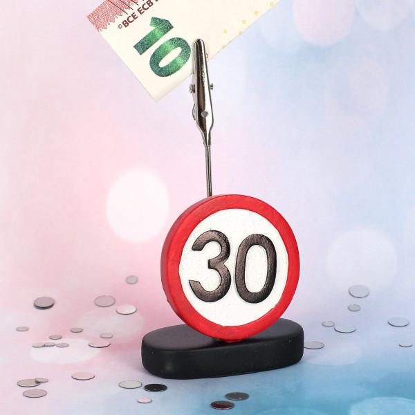 Geldclip zum 30. Geburtstag