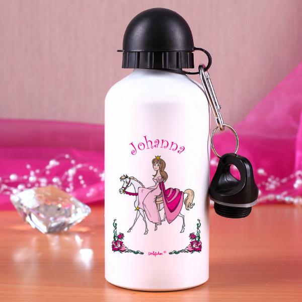 Trinkflasche Prinzessin auf Pferd