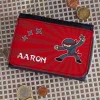Ninja - Geldbörse mit Name für Kinder