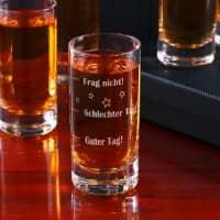 Schnapsglas mit Stimmungsbarometer