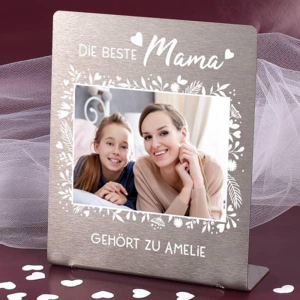 Fotoaufsteller für die beste Mama 14x17cm