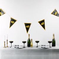 Wimpel-Girlande zum 40. Geburtstag - Star