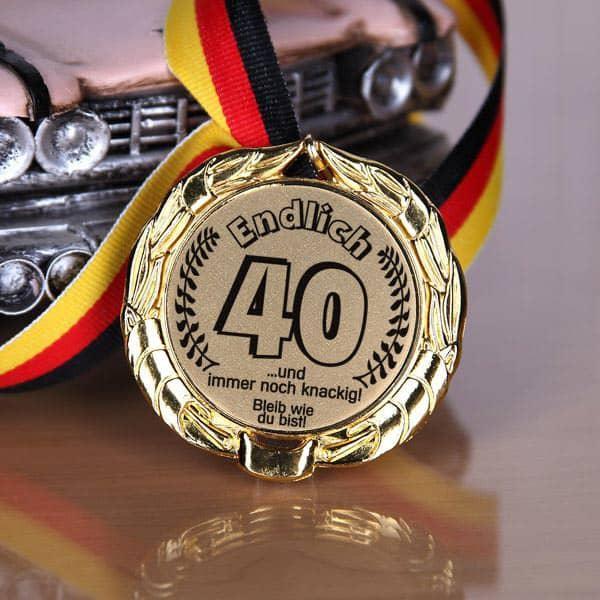 Medaille speziell zum 40. Geburtstag