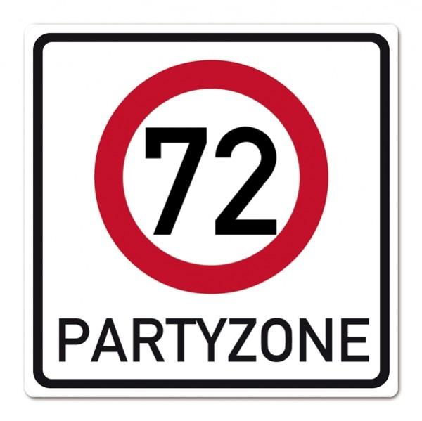 PVC Schild zum 72. Geburtstag